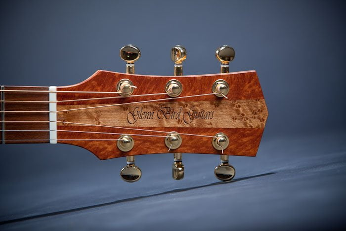 New Style Headstock - Australian Sheoak with Birdseye Maple center strip