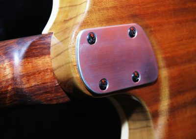 Contoured back for better playability