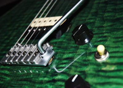 Handmade GR3 electric guitar in green