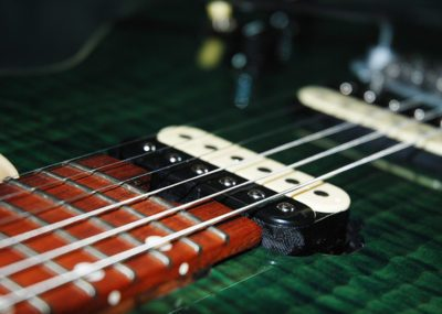 Handmade GR3 electric guitar (pickup detail). My guitars are made with only top-quality pickups.