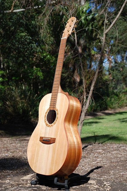 This is one of my Southern Belle steel string Acoustic Guitars, hand made using all Australian timbers, beautiful tone and great playability.