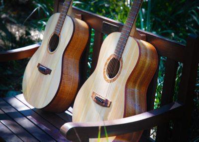 Li'l belle and Southern Belle handmade acoustic guitars